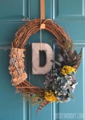 Diy Vintage Inspired Feathered Fall Wreath More