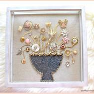 Diy Vintage Jewelry Shadow Box Treasured