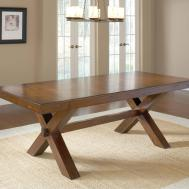 Diy Vintage Solid Wood Trestle Dining Table Rustic