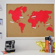 Diy Wall Art Make Custom Corkboard World Map