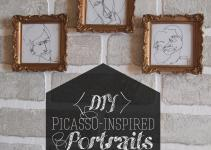 Diy Wall Art Picasso Inspired Portraits