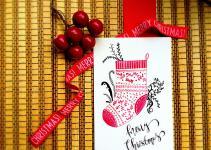 Diy Watercolor Christmas Socks Card Life Athon