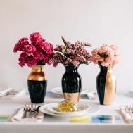 Diy Wedding Centerpieces Gilded Gold Vases