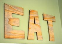 Diy Wood Eat Kitchen Sign