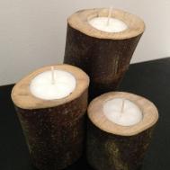 Diy Wooden Candleholder Tea Light Log Candles