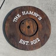 Diy Wooden Spool Tray Hamby Home