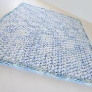 Double Thick Bath Mat Cotton Handmade Crocheted Rug