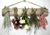 Dried Flower Rack Floral Arrangement Wall Decor