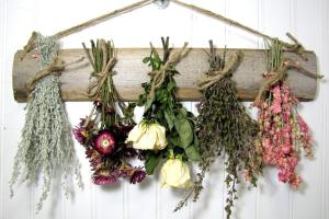 Dried Flower Rack Floral Arrangement Wall Decor