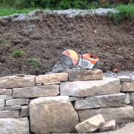 Dry Stack Natural Stone Retaining Wall Deep Creek Lake