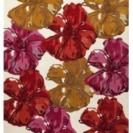 Dublin Floral Collection Wool Viscose Area Rug