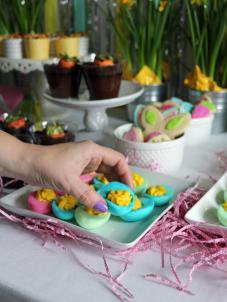 Dyed Deviled Easter Eggs Recipe