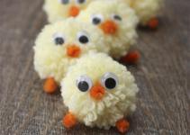Easter Chicks Pom Yarn Tutorial