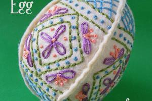 Easter Craft Ideas Embroidered Felt Egg Pattern