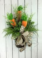 Easter Door Basket Carrot Wreath