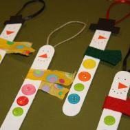 Easy Craft Popsicle Stick Snowman Ornaments Have