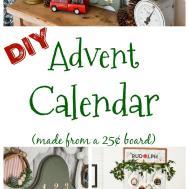 Easy Diy Advent Calendar Made Board