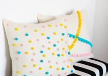 Easy Diy Felt Pom Pillows Melodrama