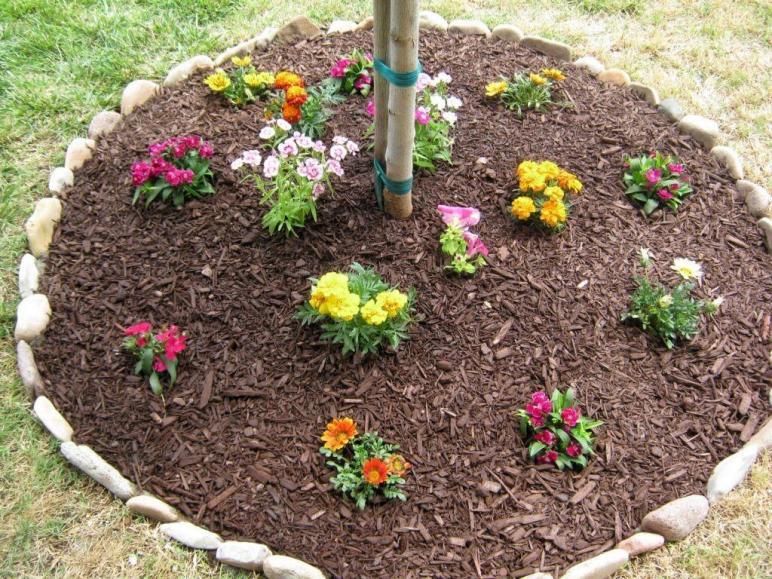 Easy Diy Stones Flower Beds