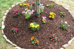 Easy Diy Stones Flower Beds