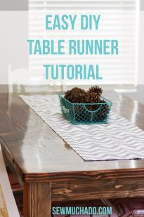 Easy Diy Table Runner Tutorial Sew Much Ado