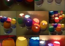 Easy Easter Craft Make Eggshell Votive Candles