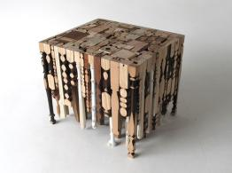 Eking Out Table Made Recycled Legs