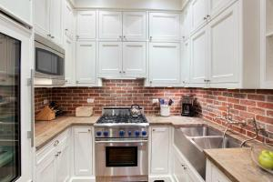 Elegant Brick Backsplash Kitchen Presented