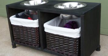 Elevated Dog Feeding Food Storage Station Hometalk