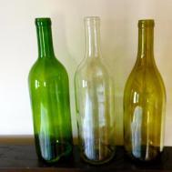 Empty Wine Bottles Crafts Decor Lights Set