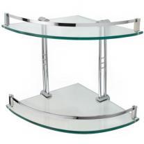 Engel Tempered Glass Corner Shelf Two Shelves Bathroom