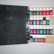 Essential Storage Cabinet Brown Frame Chalk Board