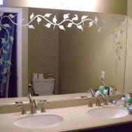 Etched Glass Bathroom Mirror Sans Soucie Art