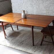 Expandable Dark Wood Small Dining Room Tables Area