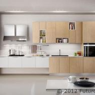 Exposed Cabinet Inserts Arredo3 Asia Kitchen Futuro