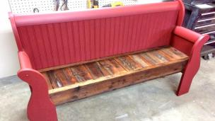 Eye Catching Red Color Paint Wood Material