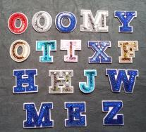 Fabric Sequin Varsity Letter Alphabet Iron Baby Kid