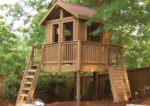 Fabulous Outdoor Tree House Design Which Completed