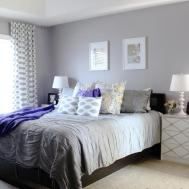 Fabulous Soft Grey Wall Color Geometric Printed