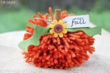 Fall Crafts Simple Diy Yarn Pom Pumpkins