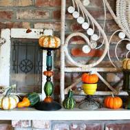Fall Mantel Display Pumpkin Overload Petticoat Junktion