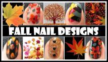 Fall Nail Art Tutorials Autumn Fishtail Braided Weave