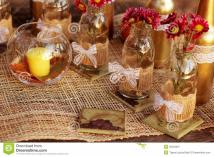 Fall Table Decorations Nature Royalty Stock