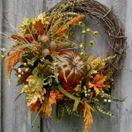 Fall Wreath Autumn Wreaths Thanksgiving Harvest Pumpkin