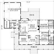Farmhouse Style House Plan Beds Baths 2556