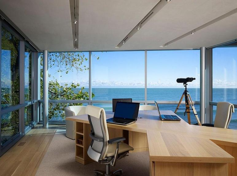 Fascinating Ocean Home Offices Designs
