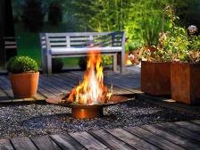 Fashionable Modern Outdoor Fireplaces Designs Decorative
