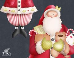 Father Christmas Digital Clipart Santa Festive