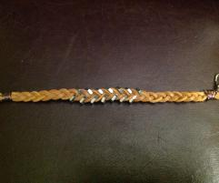 Father Day Leather Boot Lace Hex Nut Bracelet