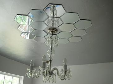 Faux Daddy Designs Mirrored Ceiling Medallion